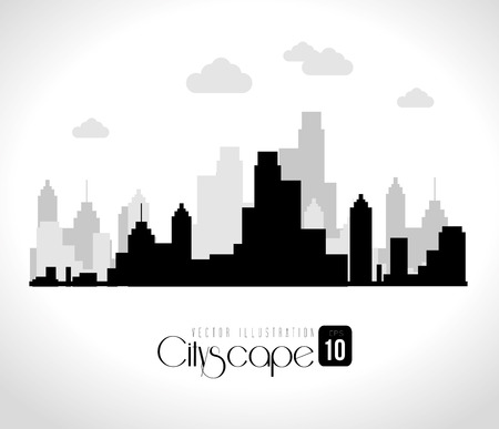 window view: Urban design over white background, vector illustration.