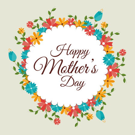 de la madre: Madres feliz tarjeta del d�a, ilustraci�n vectorial.