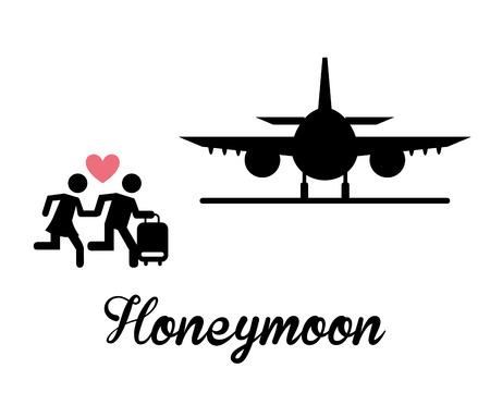luna de miel: dise�o de luna de miel, ejemplo gr�fico del vector eps10 Vectores