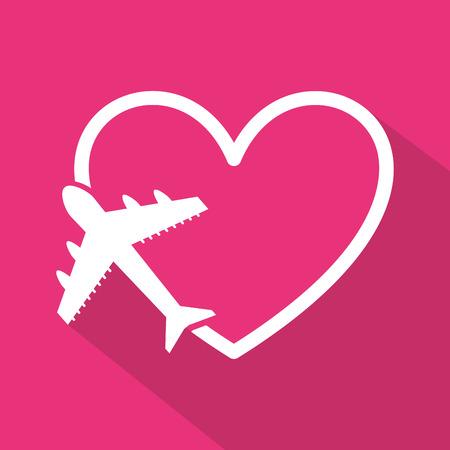 airplane icon: honeymoon design, vector illustration eps10 graphic Illustration
