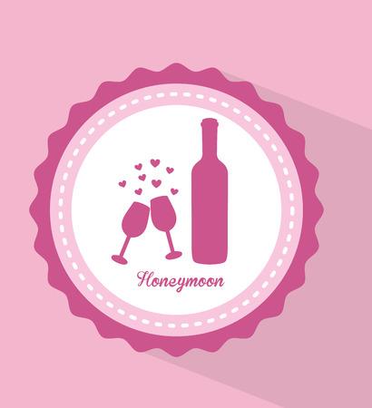honeymoon: honeymoon design, vector illustration eps10 graphic Illustration