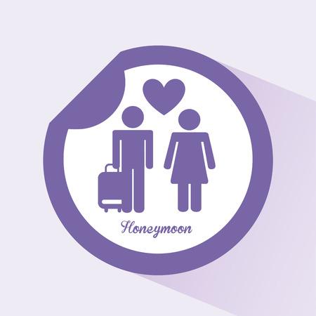 honeymoon design, vector illustration eps10 graphic Vector