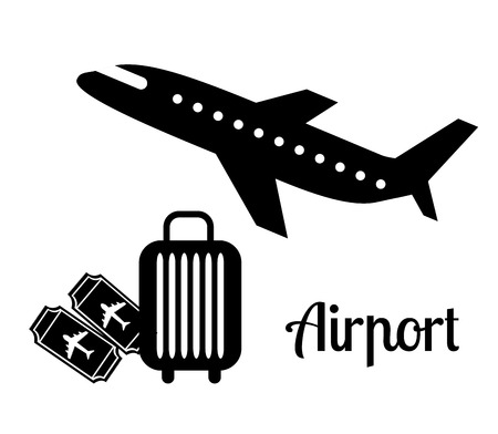arrivals: airport icons design, vector illustration eps10 graphic