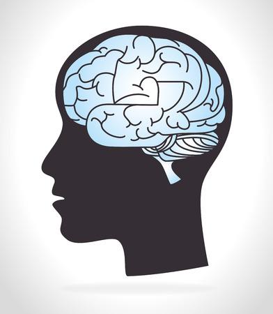 mentality: Idea design over white background, vector illustration.