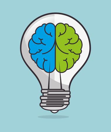 mentality: Idea design over blue background, vector illustration.