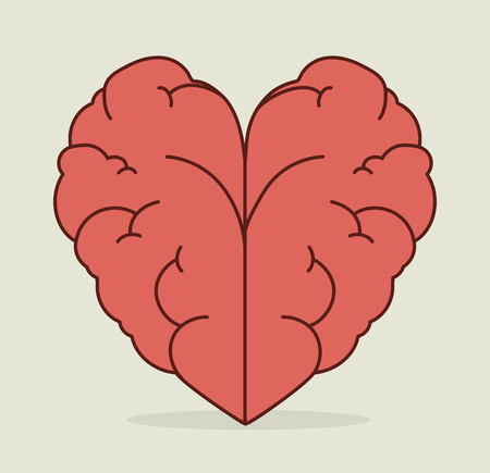 heart intelligence: Idea design over white background, vector illustration.