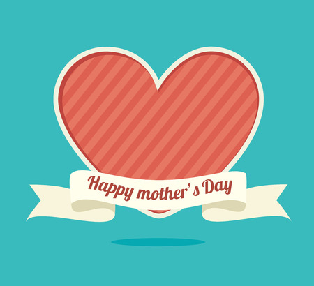mothers day: Happy mothers day card, vector illustration.