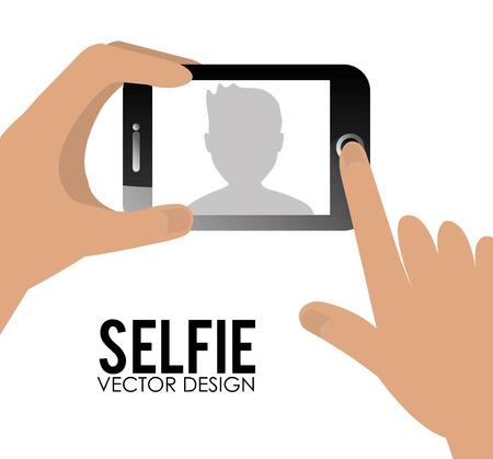 selfie: Selfie design, vector illustration. Illustration