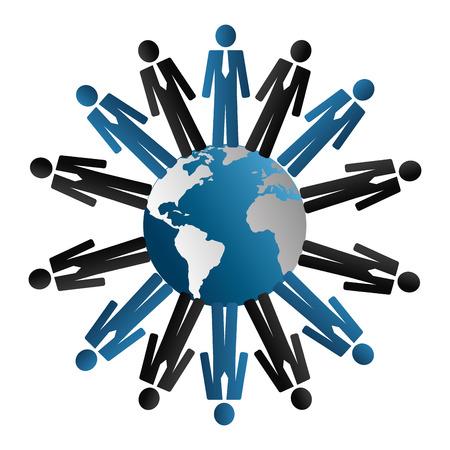 socializing: Dise�o de la red social, ilustraci�n vectorial. Vectores