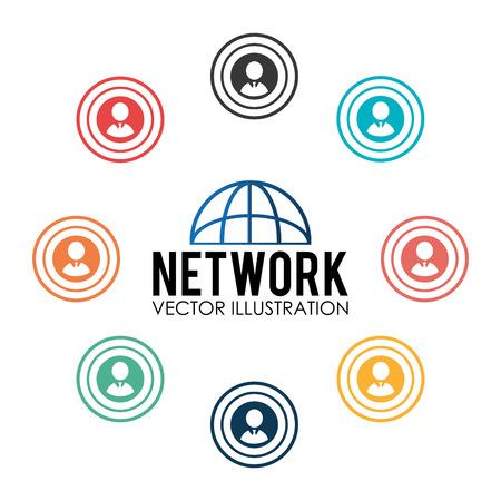 socializando: Dise�o de la red social, ilustraci�n vectorial. Vectores