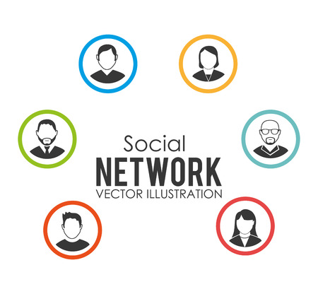 socializing: Social network design, vector illustration.