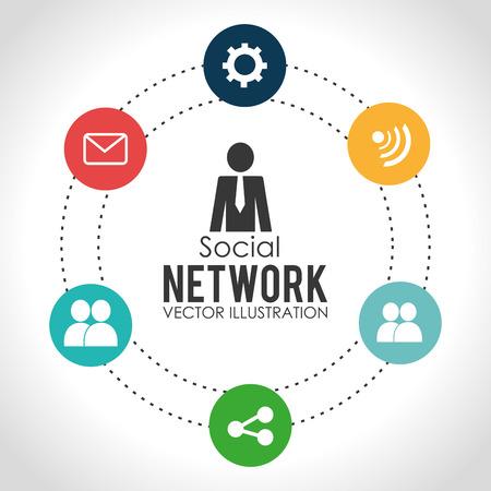network design: Social network design, vector illustration.