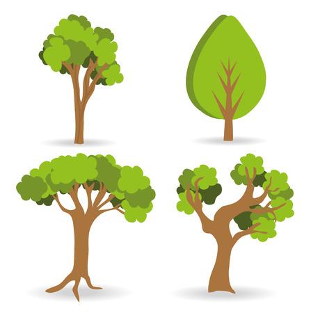 Forest design  over  white background, vector illustration.