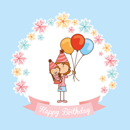 er: happy birthday design, vector illustration eps10 graphic