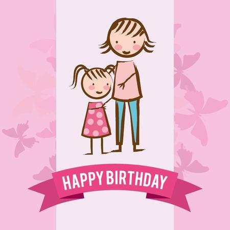 er: happy birthday design, vector illustration eps10 graphic