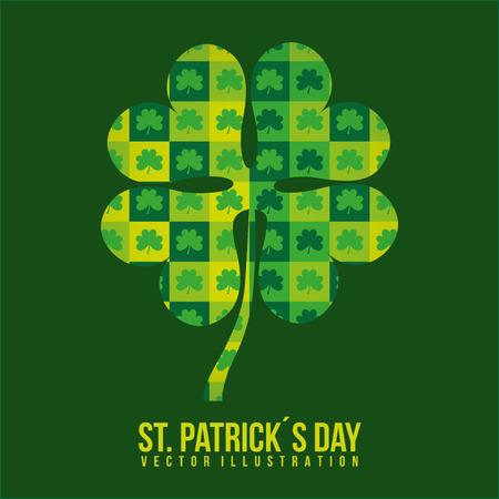 saint patrick day design, vector illustration eps10 graphic Illustration