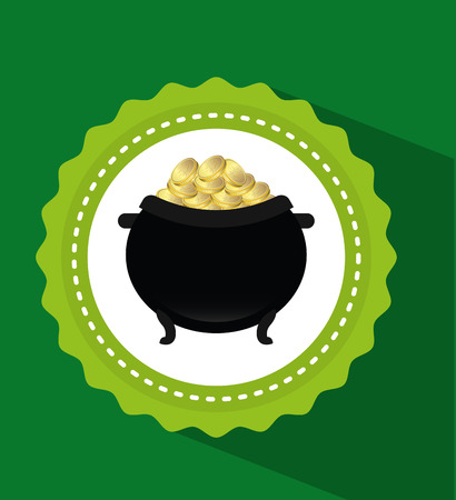pot of gold: pot gold design, vector illustration eps10 graphic
