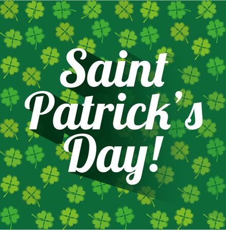 st patricks party: saint patrick day design, vector illustration eps10 graphic Illustration