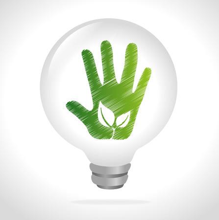 enviromental: Ecology design over white background, vector illustration.