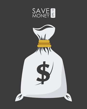 millionaire: Money design over gray background, vector illustration. Illustration