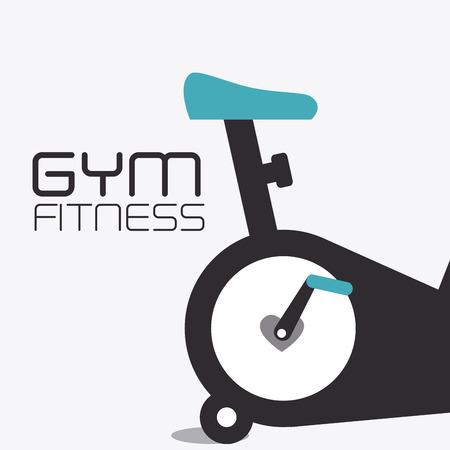 fitness trainer: Fitness design over white background, vector illustration.