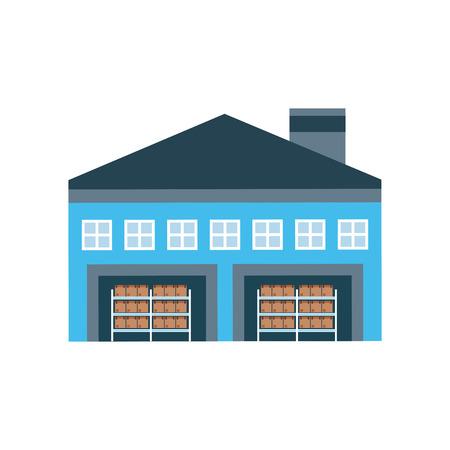 warehouse building: warehouse poster design, vector illustration eps10 graphic