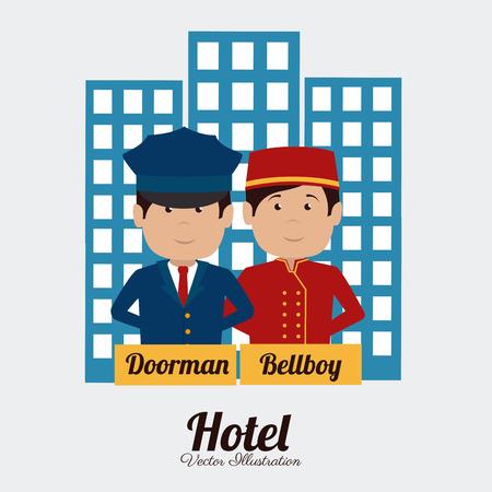 edifice: Hotel design over white background, vector illustration.