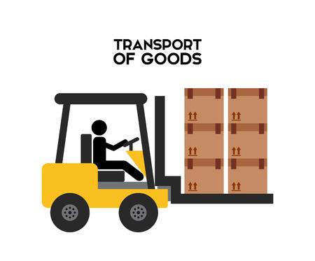 transport of goods: transport of goods design, vector illustration eps10 graphic Illustration