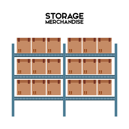 shelf: warehouse design, vector illustration eps10 graphic