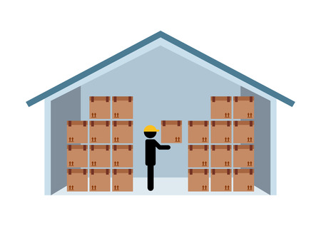 storage: warehouse design, vector illustration eps10 graphic