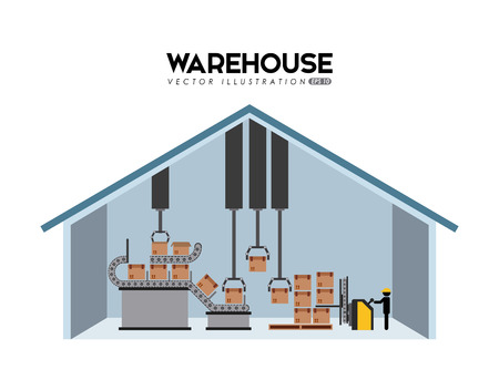 warehouse building: warehouse design, vector illustration eps10 graphic