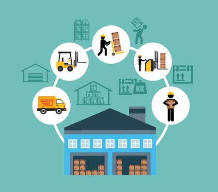 warehouse: warehouse design, vector illustration eps10 graphic
