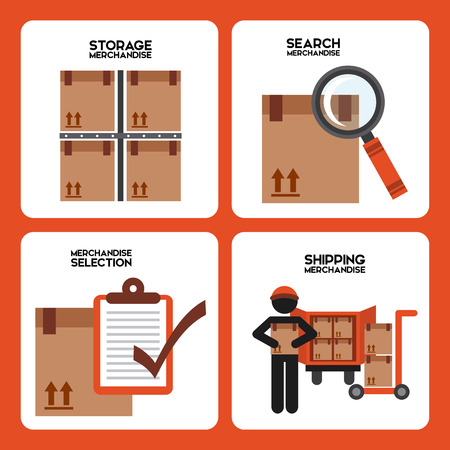inventory: warehouse design, vector illustration eps10 graphic