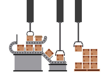 packaging equipment: packing machine design, vector illustration eps10 graphic Illustration