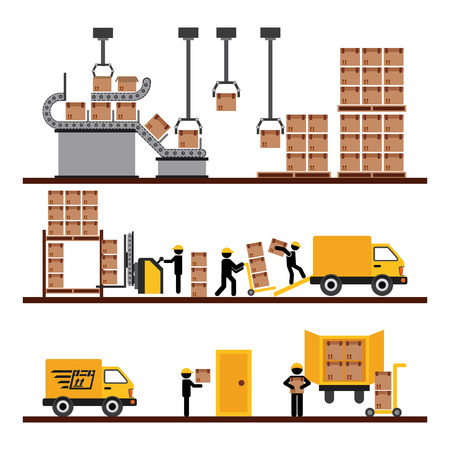 warehouse worker: transport of goods design, vector illustration eps10 graphic Illustration