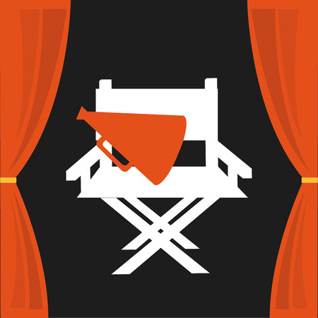 courtain: cinema icon design, vector illustration eps10 graphic