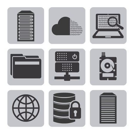 data center design, vector illustration eps10 graphic Vector