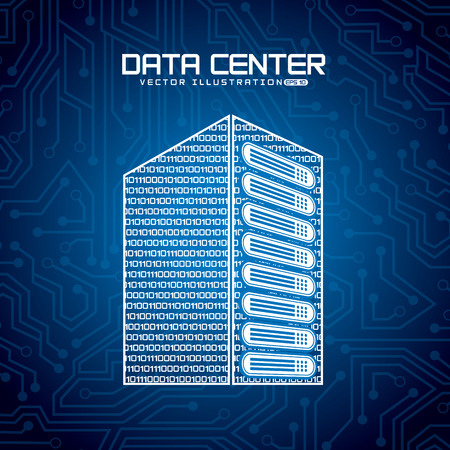 data: data center design, vector illustration eps10 graphic