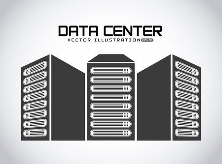 data center design, vector illustration eps10 graphic