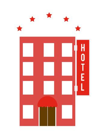 5 door: Hotel design over white background, vector illustration.
