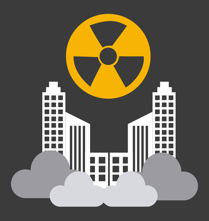 contamination: Radioactive contamination, vector illustration. Illustration