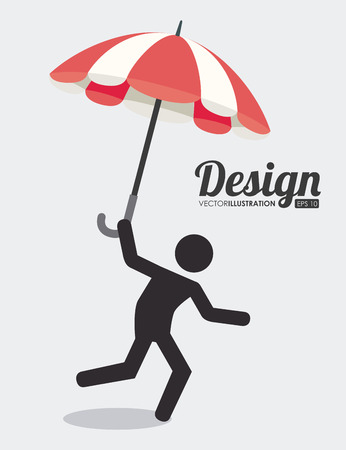 pictogram attention: Insurance design over white background, vector illustration.