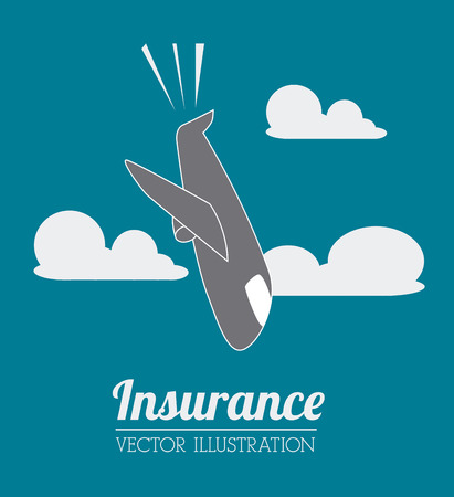 cloudscape: Insurance design over cloudscape background, vector illustration. Illustration