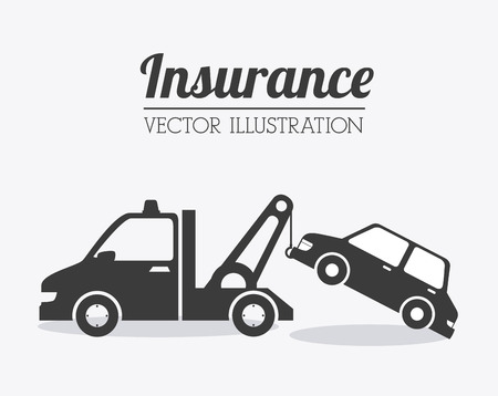 industrial accident: Insurance design over white background, vector illustration.