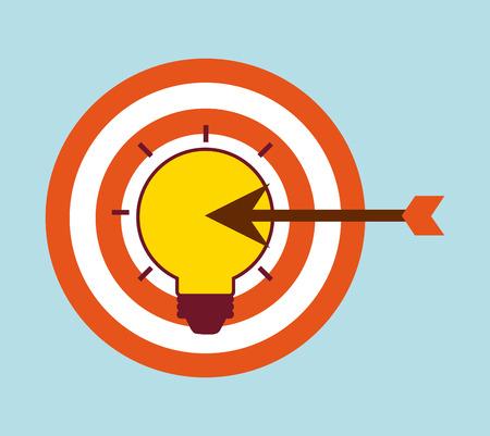 target thinking: target arrow design, vector illustration eps10 graphic Illustration