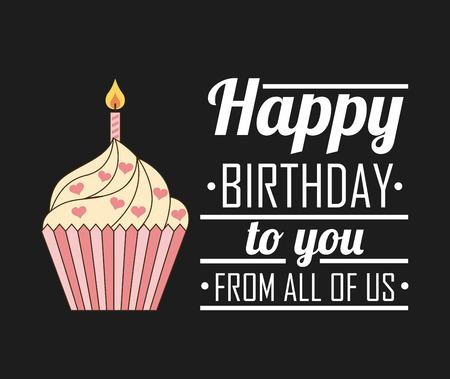buon compleanno: progettazione di buon compleanno, illustrazione grafica vettoriale eps10