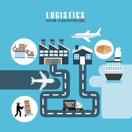 transport logistiek ontwerp, vectorillustratie eps10 grafische