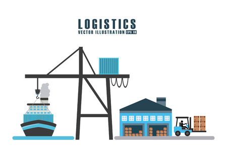 box weight: transport logistics design, vector illustration eps10 graphic