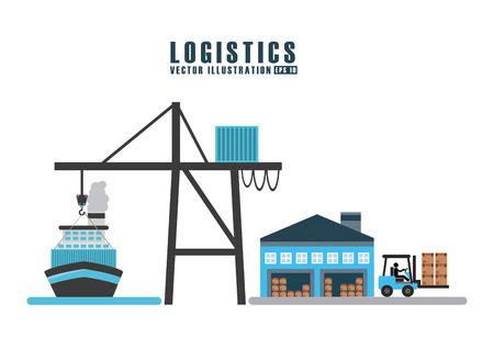 Transport logistiek ontwerp, vectorillustratie eps10 grafische Stockfoto - 36379294