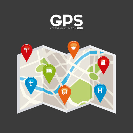 technology technology symbol: gps signals design, vector illustration eps10 graphic